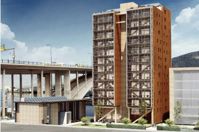 Immeuble de grande hauteur for Immeuble bureaux structure bois