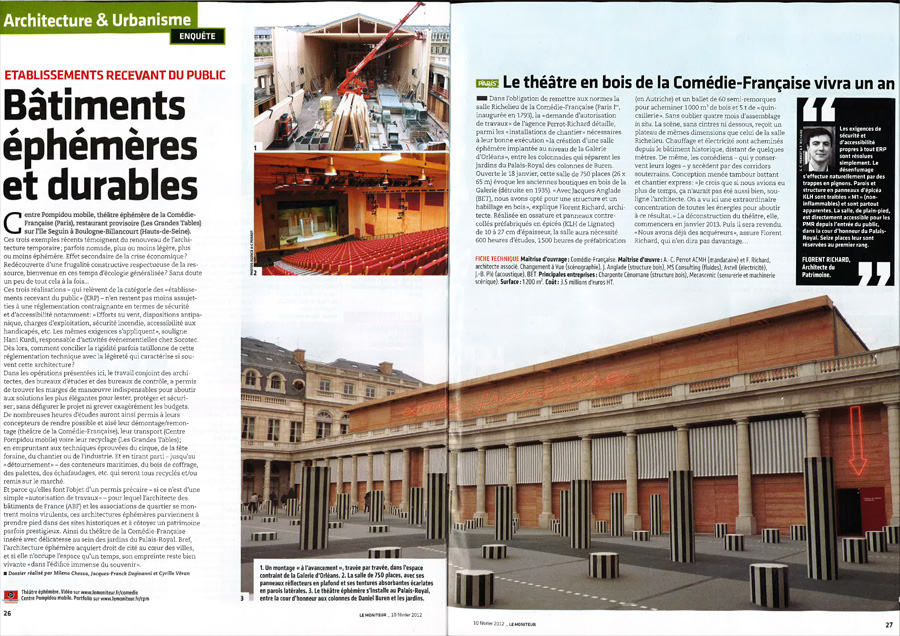 Article Moniteur Theatre Ephemere