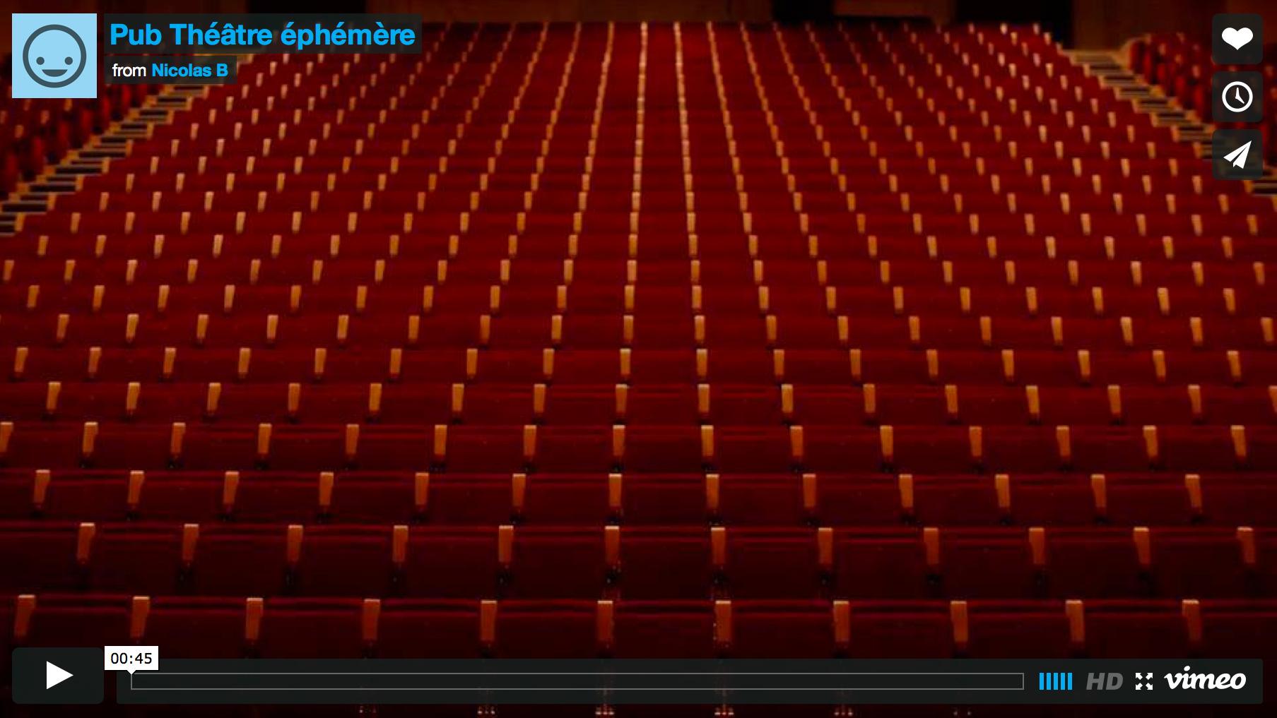 Publicité Théâtre Ephémère